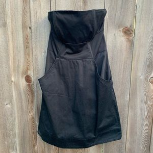 Strapless black H&M dress with pockets size 12